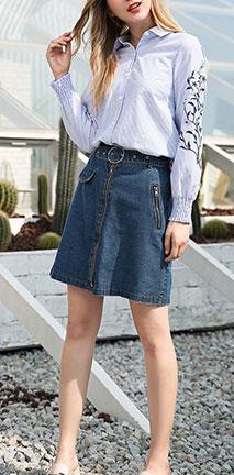 湖蓝小短裙